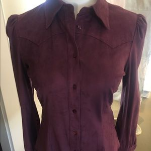 SEE BY CHLOE  tapered ULTRA SUEDE shirt!